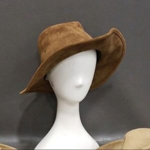 Free people distressed suede cowgirl hat